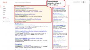 google adwords reklamları nasıl gözükür
